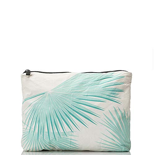 ALOHA Collection Mid Tropical Fan Palms Pouch in Pool