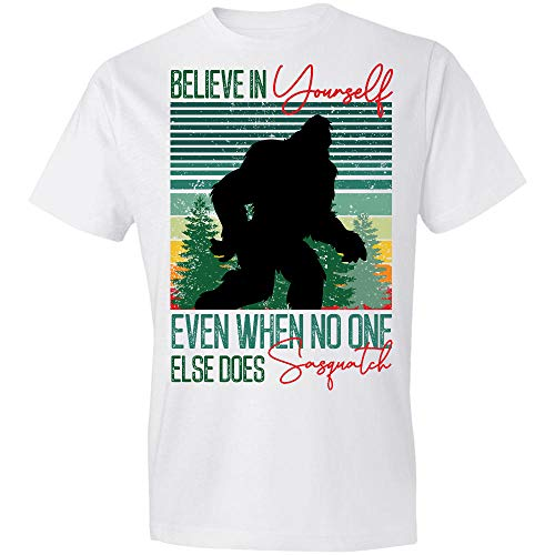 AZSTEEL Bigfoot Believe in Yourself Even When No One Else Does Sasquatch T-Shirt,Gift