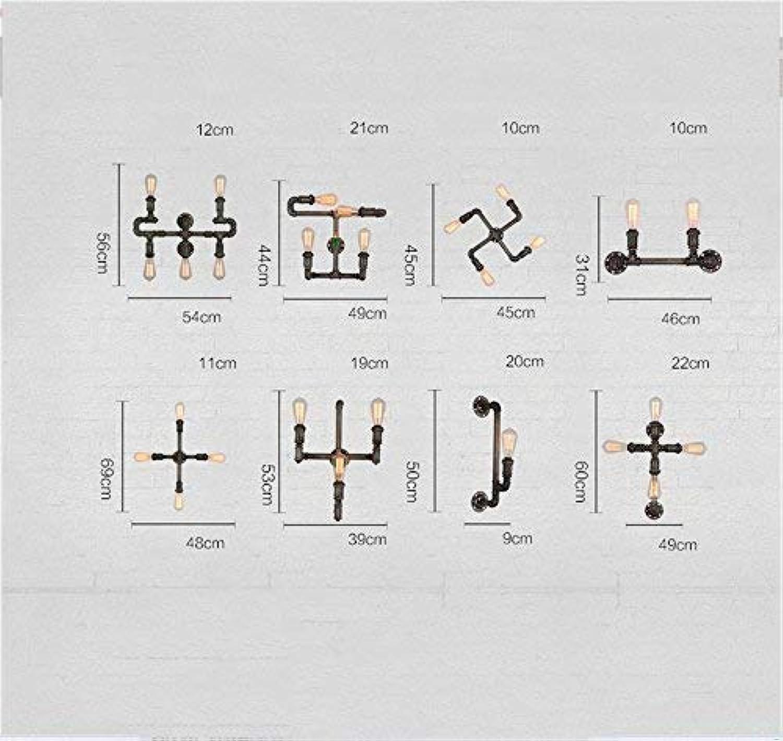 ZHYTX Vintage Eisen Plug Pipe Wohnzimmer Schlafzimmer Wandleuchte Nachttischlampe, E27 Treppenhaus Balkon Flur Bar Bar Cafeteria Wandleuchte Korridor Gang ausziehbare Auswahl