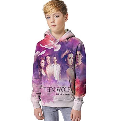 Teen Wolf Pullover Cuello Redondo de la Camiseta de algodón Grueso Hoodies...