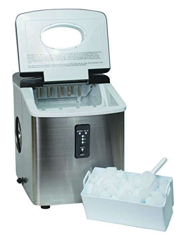 Igloo Counter Top Ice Maker with Over-Sized Ice Bucket, Stainless Steel - ICE103