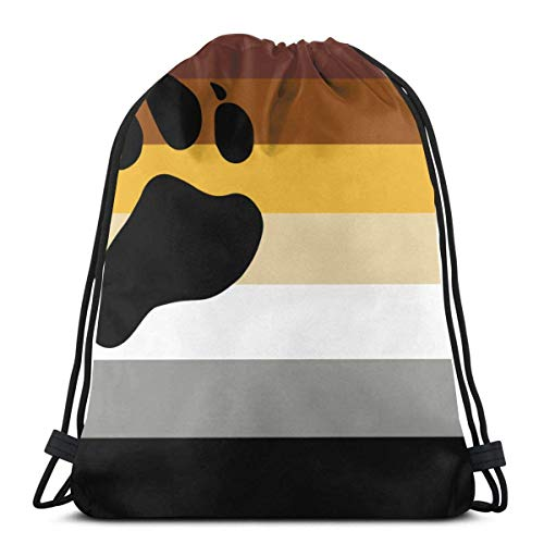 Bear - Mochila unisex con diseño de bandera del orgullo gay