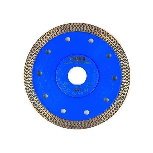 Profi Diamant Trennscheiben X-CUT-Turbo Fliesenscheibe, Fliesentrennscheibe, extra dünn, 125 mm für Handmaschinen, zum trennen und schneiden von Naturstein, Feinsteinzeug, Fliesen, Keramik, Dachziegel