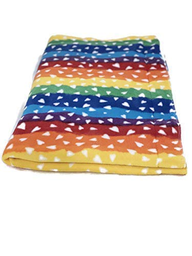 Guinea pig Fleece Lap Pad | Created by Laura | Rainbow Hearts | Waterproof and Absorbent | 20x20 inches