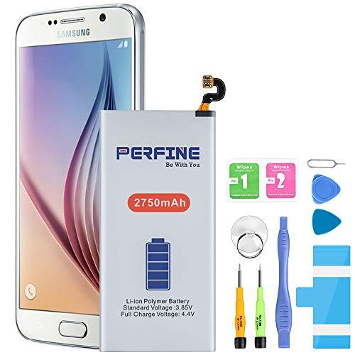 Perfine 2750mAh Akku für Samsung Galaxy S6, Modell EB-BG920ABE Batterien mit Reparatur Werkzeug Kit für G920
