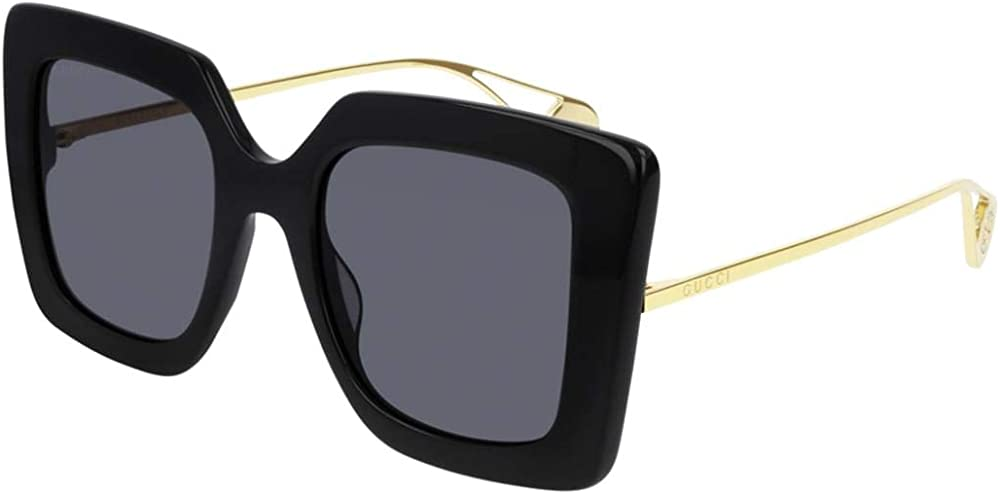 Gucci, occhiali per il sole da donna, rettangolare - squadrato, in acetato e colore lenti grigie GG0435S-001-51