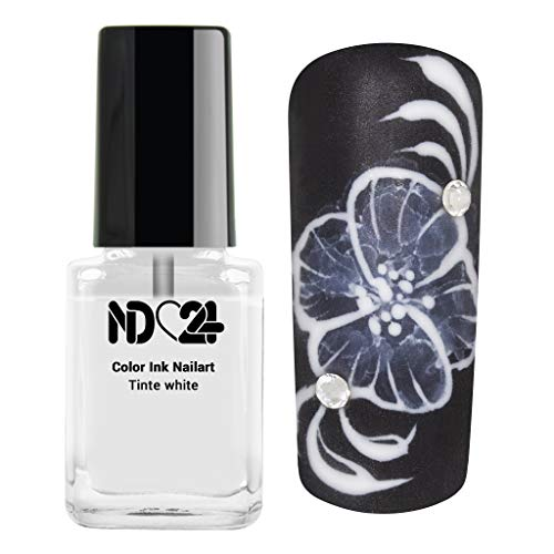 Color Ink Nail Art Tinte Weiss Marmor-Look - Made in Germany - 12ml