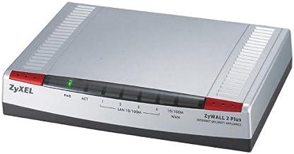 ZyXEL ZyWALL 2 Plus - Cortafuegos (100 Mbit/s, 24 Mbit/s, 24 Mbit/s, PPPoE, PPTP, Dos, DDOS, DES/3DES/AES)