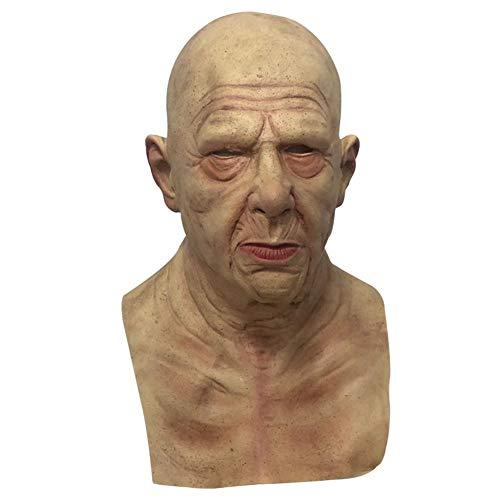 chlius Mscara realista de ltex suave para Halloween para el abuelo y el anciano, para Halloween, perifrico, para fiestas de Halloween, mscaras, actuaciones, actividades de entretenimiento