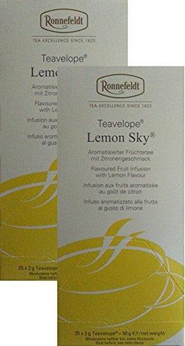 Ronnefeldt-Teavelope -2er Pack- Lemon Sky - Aromatisierter Füchtetee - 2x25x2g Teebtl.
