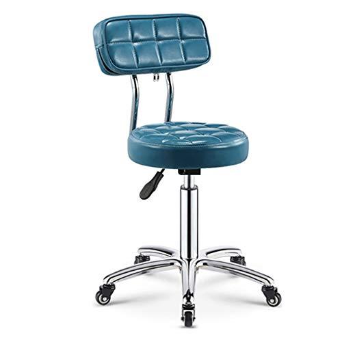 Lwjjby Giratoria de Oficina, Vintage Design Silla de Comedor de Estilo Retro Silla de la Cocina Oficina sillón con Respaldo (Color : Blue)