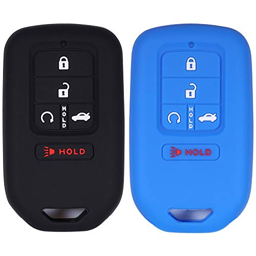 Coolbestda Silicone Key Fob Skin Remote Case Cover Wallet Keyless Jacket Full Covered for A2C81642600 2018 2017 2016 2015 Honda Accord Civic CR-V CRV Pilot EX EX-L Touring Premium