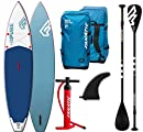 Fanatic Pure Air Touring inflatable SUP 11.6 Stand up Paddle Board mit Pure Paddel 2018