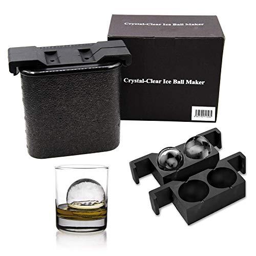 Malayas - Kristallklarer-Eiskugel-Ersteller, Crystal Clear Ice Diamond Cube Maker,Jumbo-Eisbälle,Crystal Transparent Riesen Diamant Eiswürfelform Ideal für Whiskey Wein, Cocktails und Getränke (Balls)