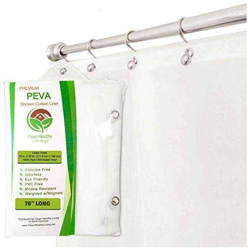 Clean Healthy Living XL Heavy Duty PEVA Frost Shower Curtain...