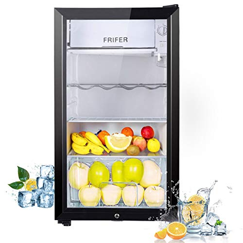 Frifer Mini Fridge 83 liters, Small Fridge Portable, Mini Refrigerator for Home, Wine & Drinks Fridge,Thermoelectric Compact Fridge for Skincare, Cosmetics with Lock and Key, Offices and Dormitories