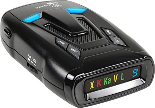 Whistler CR73 High Performance Laser Radar Detector: 360 Degree Protection and Bilingual Voice Alerts, Black