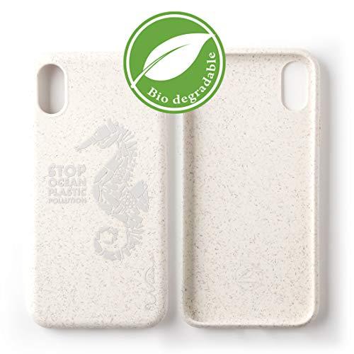 Wilma Umweltfreundliches, biologisch abbaubare Handy Schutzhülle Kompatibel mit iPhone X/XS, Stop Meeres Plastik Verschmutzung, Kunststoff-frei, ungiftig, Vollschutz Hülle - Matt Seepferdchen