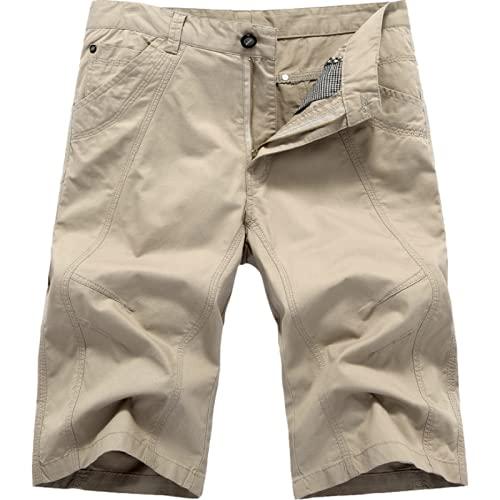 Pantalones de Carga Informales Retro para Hombre, Pantalones de Trabajo Diarios de Gran tamaño de Color sólido para Caminar a la Moda, Pantalones de Trabajo 34