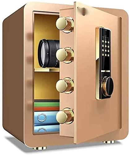 Caja fuerteCXSMKP Cajas Fuertes electrónicas Caja de depósito Pequeño y Mediano Caja de Bloqueo antirrobo de Acero Mediano Joyería de Caja Fuerte, Caja de hogar Inteligente de Oro.