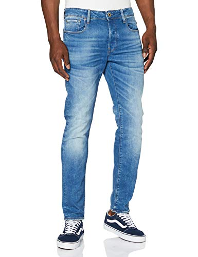 G-STAR RAW Herren Hose Rovic Zip 3d Straight Tapered jeans, Authentic Faded Blue B631-A817, 33W / 34L