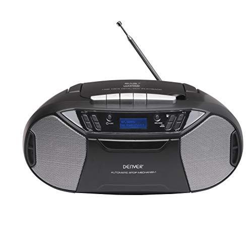 Boombox Denver TDC-250 met DAB+/FM-radio, cassettespeler, CD-speler, AUX-ingang