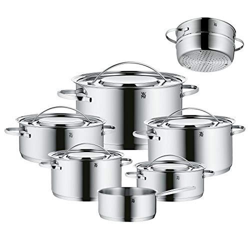 WMF Gala Plus Batería de Cocina (7 Piezas), Acero Inoxidable Cromargan, Apta...