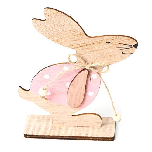 NANUNU Ornamente - Ostern Holzhase Tischdekoration Ostern Holz Handwerk Ornamente für Home Office Dekoration