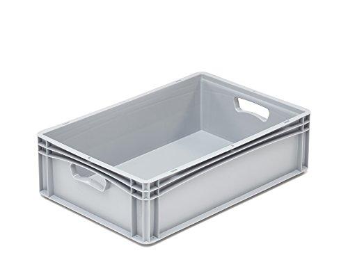 hünersdorff Eurobehälter / Eurokiste / Lagerbox Basicline (PP) mit 2 Durchfassgriffen, sicher stapel- und kombinierbar, Made in Germany