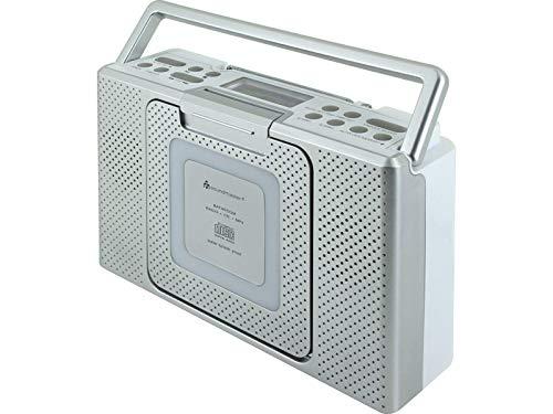 Soundmaster BCD480 Bad/Küchen Stereo-Radio mit CD und Uhr, feuchtraum geeignet