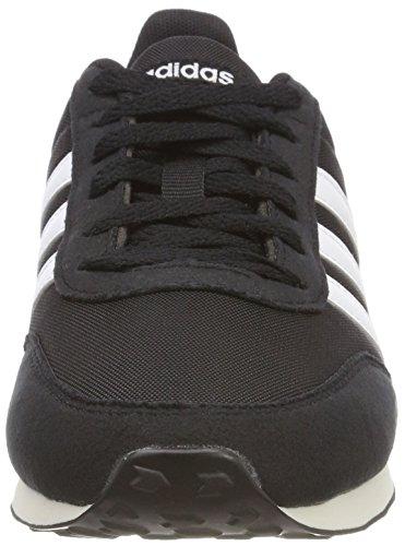 ADIDAS V Racer 2.0 Bc0106, Zapatillas Hombre, Negro (Core Black/Solar Red/Footwear White), 42 2/3 EU