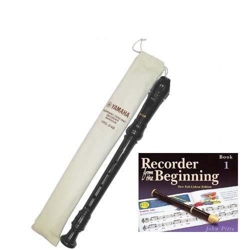 Yamaha Descant YRS24BUK school recorder with Book 1Yamaha Descant YRS24BUK...