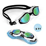 TOPLUS Swimming Goggles, No Leaking Anti Fog UV Protection Swim Goggles Soft Silicone