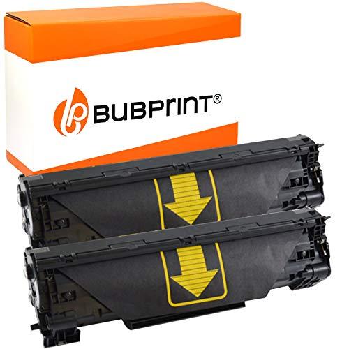 2 Bubprint Toner kompatibel für HP CF283A 83A für Laserjet Pro MFP M125a M125nw M126a M126nw M127fn M127fs M127fw M128fn M128fw M201dw M201n M225dn M225dw M226dn M226dw Schwarz