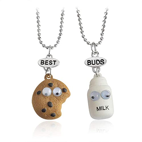 AMOZ Necklaces Sweater Chain Choker Necklace Clavicular Chain Three-Dimensional Cookie Milk Buds Necklace,Xl029