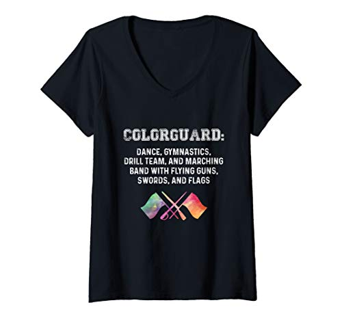 Womens What is Colorguard - Funny Flag Toss Sports Tees for Girls V-Neck T-Shirt