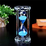 SZAT PRO Hourglass Sand Timer 30 Min/Mins Hour Glass with Gift Box Package(Blue,Crystal)