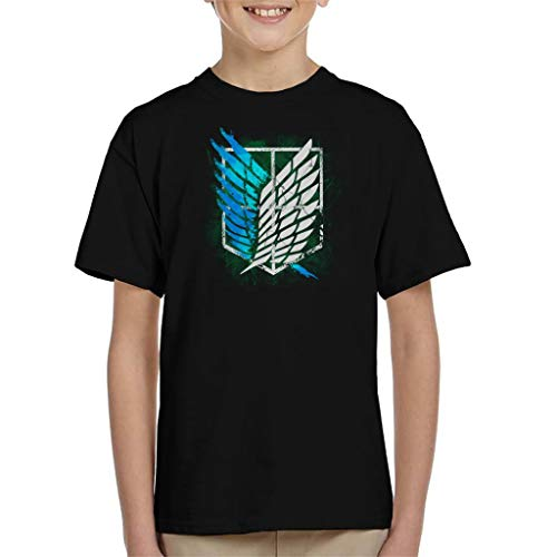 Cloud City 7 Attack On Titan Suvery Corps Cracked Wall Kid's T-Shirt