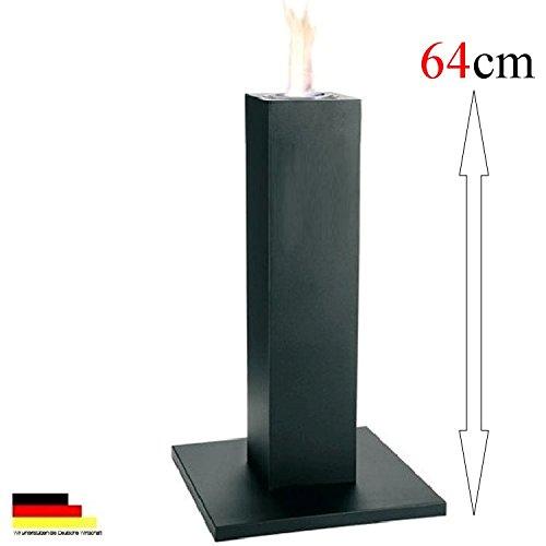 Tischkamin Tischfeuer Säule Bio Ethanol & Brenngel Tischdeko schwarz