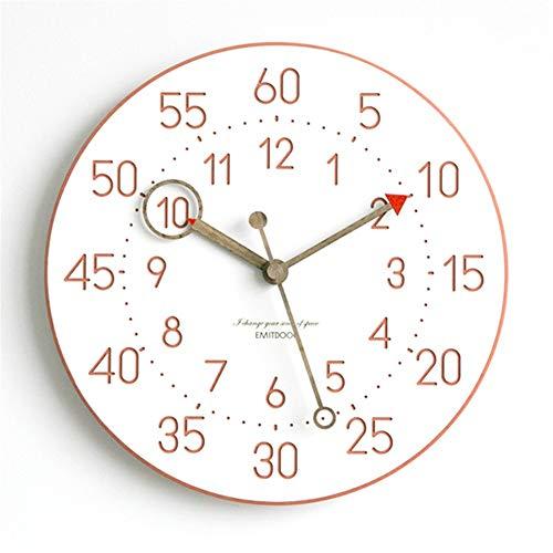 Woonkamer Creatieve Mode Wandklok Moderne Minimalistische Woonklok Nordic Quartz Mute Horloge Huisdecoratie 30 cm (12 Inches)