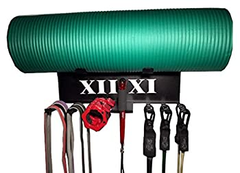 XII XI Fitness Gym Storage Exercise Band Rack American Made Resistance Bands Rack Lifting Belt and Jump Rope Storage Yoga Mat and Foam Roller Holder Home Gym Equipment.