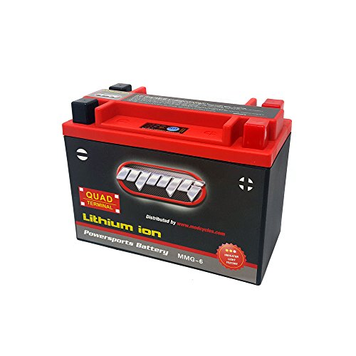 MMG Lithium Ion Sealed Battery 12V 420 LCA Quad Terminal, Compatible with YTX20L-BS, YTX20H-BS, YTX20HL-BS, YTX24HL-BS, and YB16CL-B (MMG6)