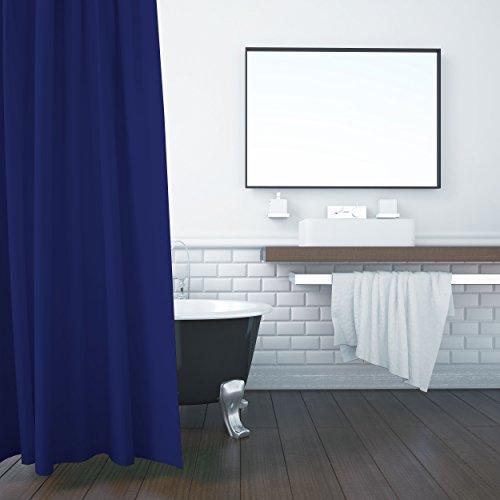 ZOLLNER Duschvorhang, 180x200 cm, Anti-Schimmel, blau (weitere verfügbar)
