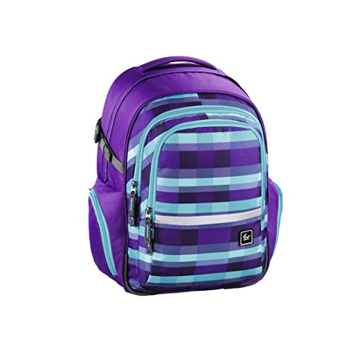 all out Filby Schulrucksack Summer Check Purple