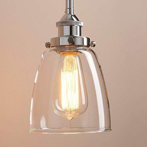 Lightsjoy Hängeleuchte Vintage Glas Pendelleuchte Industrial Hängelampe Retro Industrie Lampen Hängende Deckenleuchte E27 für Esszimmer Esstisch Küche Wohnzimmer Schlafzimmer Hotel Bar usw. …