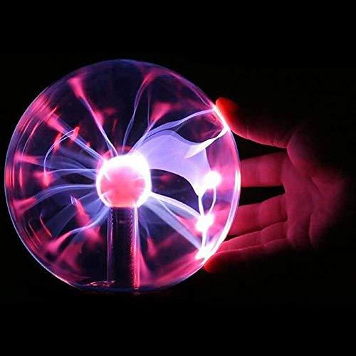 Lampada per lampada,Sfera al Plasma Globo Night Plasma Ball Touch Sensitive Lampada al Plasma USB/Batteria Lightning Decorazione Creativa e Regalo della novità