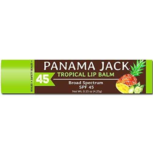 Panama Jack Tropical Lip Balm - SPF 45, Broad Spectrum UVA-UVB Sunscreen Protection, Prevents &...