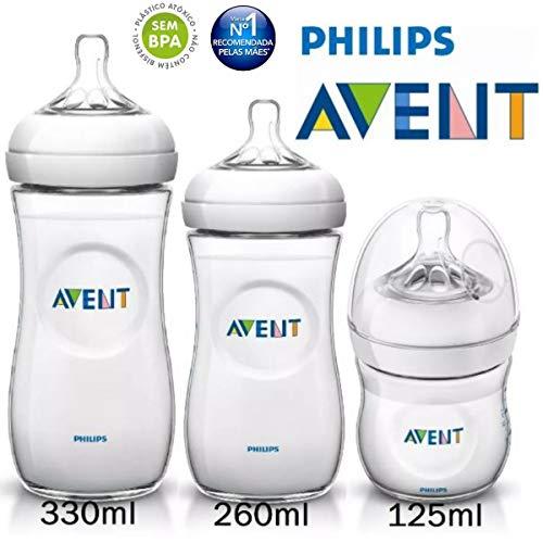 Kit Avent Petala 3 Mamadeiras 125 260 330ml Philips Avent