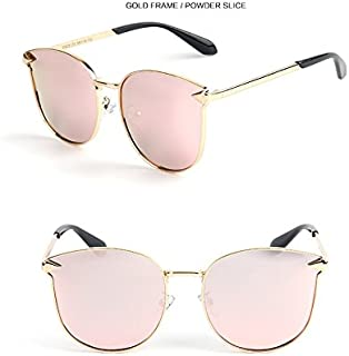 GR Child Sunglasses Fashion Polaroid Sunglasses Boys Girls Kids Baby Goggles UV400 Mirror Arrow Metal Frame Cat Eye Sunglasses Children (Color : Pink)