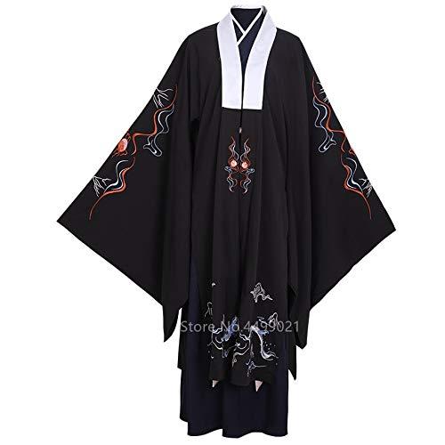 HongYa Tang Dynastie Altes chinesisches Kostüm Hanfu Kleid Traditionelle chinesische Kleidung für Männer Han Dynastie Lange Roben Tanzbühne Yangko
